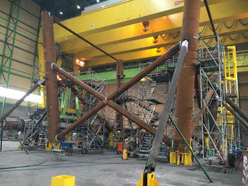 Certificate welding  equipping for Wikinger Offshore Wind Farm Iberdrola Lindø, Denmark 3