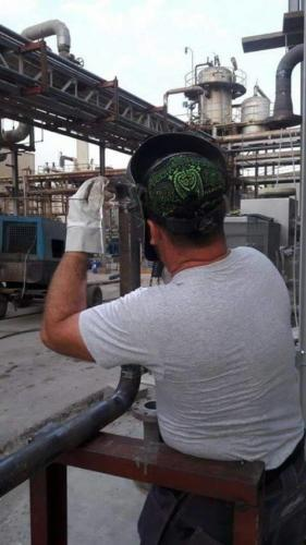 Certificate welding  piping on JPCR boiler site, Jordan 4