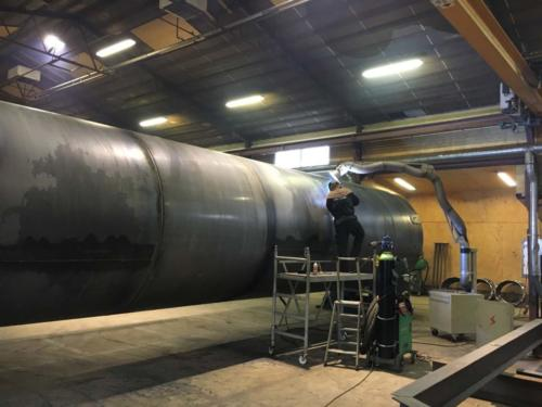 Construktion and welding of Silos Aabybro, Denmark 2017 1