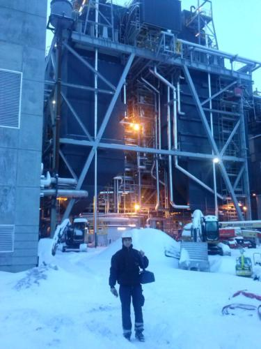 Electrical installation on Boiler SteamGen 10 Finnfjord, Norway 2