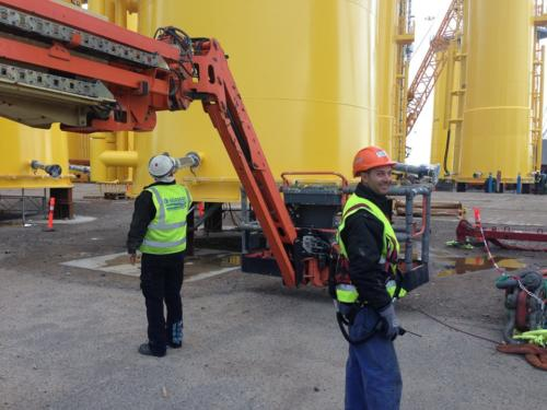 Installation work on TP Sandbank project Bladt Aalborg, Denmark 1