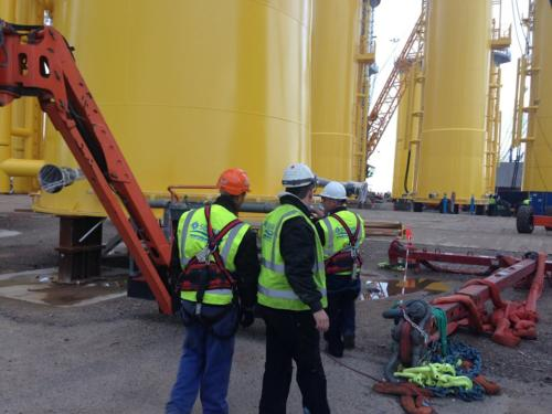 Installation work on TP Sandbank project Bladt Aalborg, Denmark 2