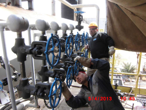 Piping  certificate welding on Boiler SteamGen 4 Jordan Refinery, Jordan 1