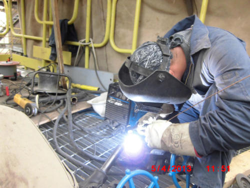 Piping  certificate welding on Boiler SteamGen 4 Jordan Refinery, Jordan 2