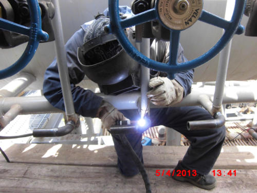 Piping  certificate welding on Boiler SteamGen 4 Jordan Refinery, Jordan 3