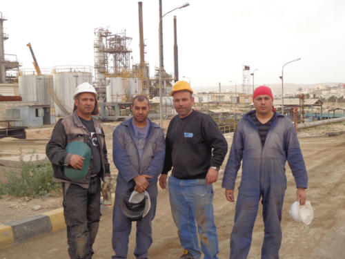 Piping  certificate welding on Boiler SteamGen 4 Jordan Refinery, Jordan 4