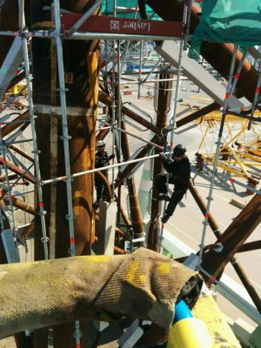 Scaffolders for Beatrice jacket-fundamente Lindø, Denmark 4