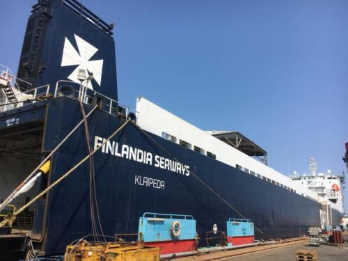 Electrical work after fire on DFDS Klaipeda1 Lindø Denmark1