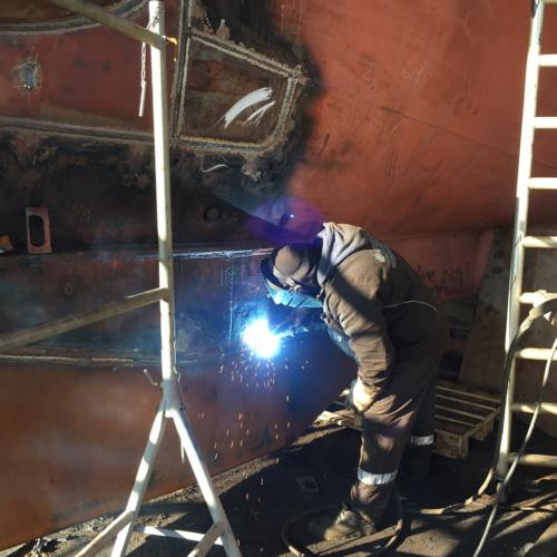 Repair  steel work on RI.468 Hvidesande, Denmark 2