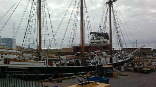 Repair of old sailboat Hvide Sande, Denmark 4