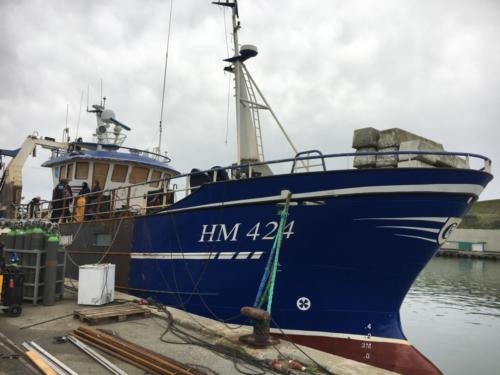 Ship repairs on HM 424 Hanstholm, Denmark 1